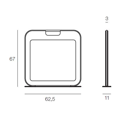 Grzejnik Bag 670/625 350W kolor Ebony