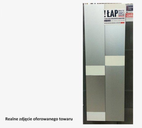 Grzejnik Projectclima ORTA 1200x400 INOX SANDED STEEL + WHITE moc 601W