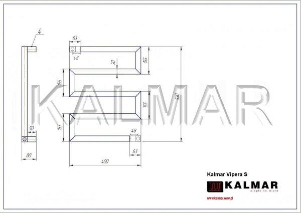 Grzejnik Kalmar Radiators VIPERA 530x400 INOX POLER moc 181W