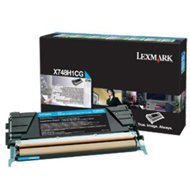 Kaseta z tonerem Lexmark do X748 | zwrotny | 10 000 str. | cyan