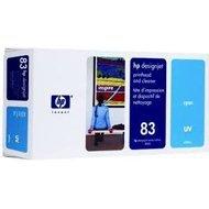 Tusz + głowica + głowica czyszcząca HP 83 do Designjet 5000/5500 | UV | cyan