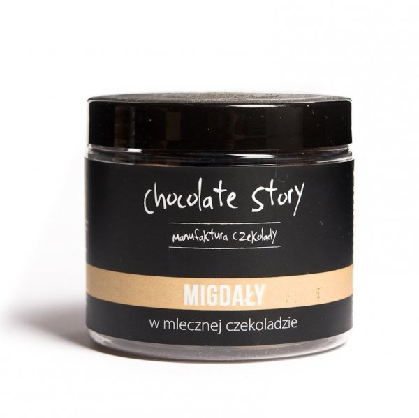 Migdały w mlecznej czekoladzie 44% 120g