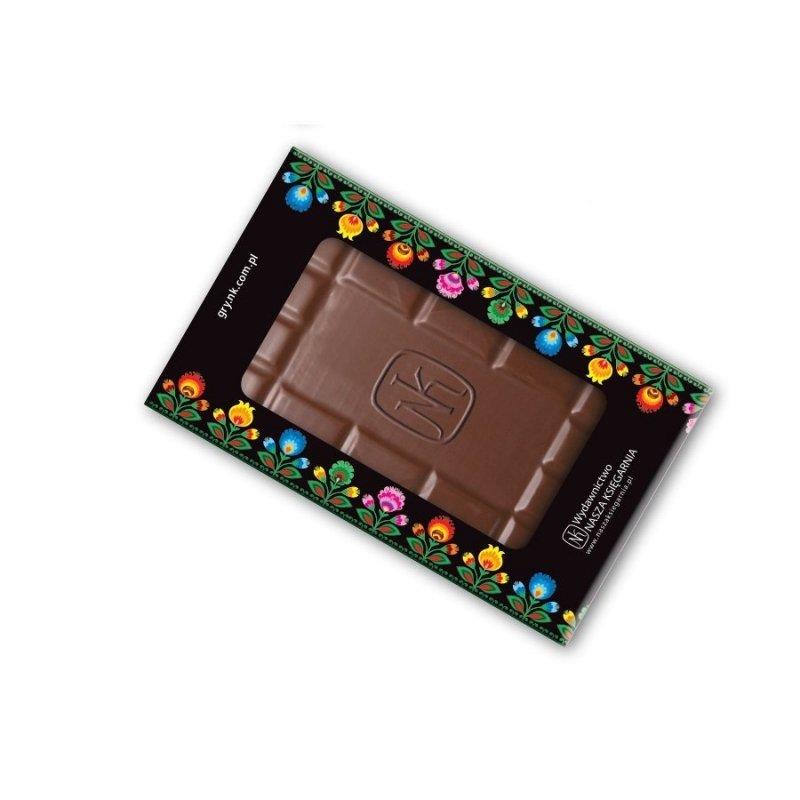 Tabliczka czekolady z wytłoczonym logo firmy CHOCO SIGNATURE 70g