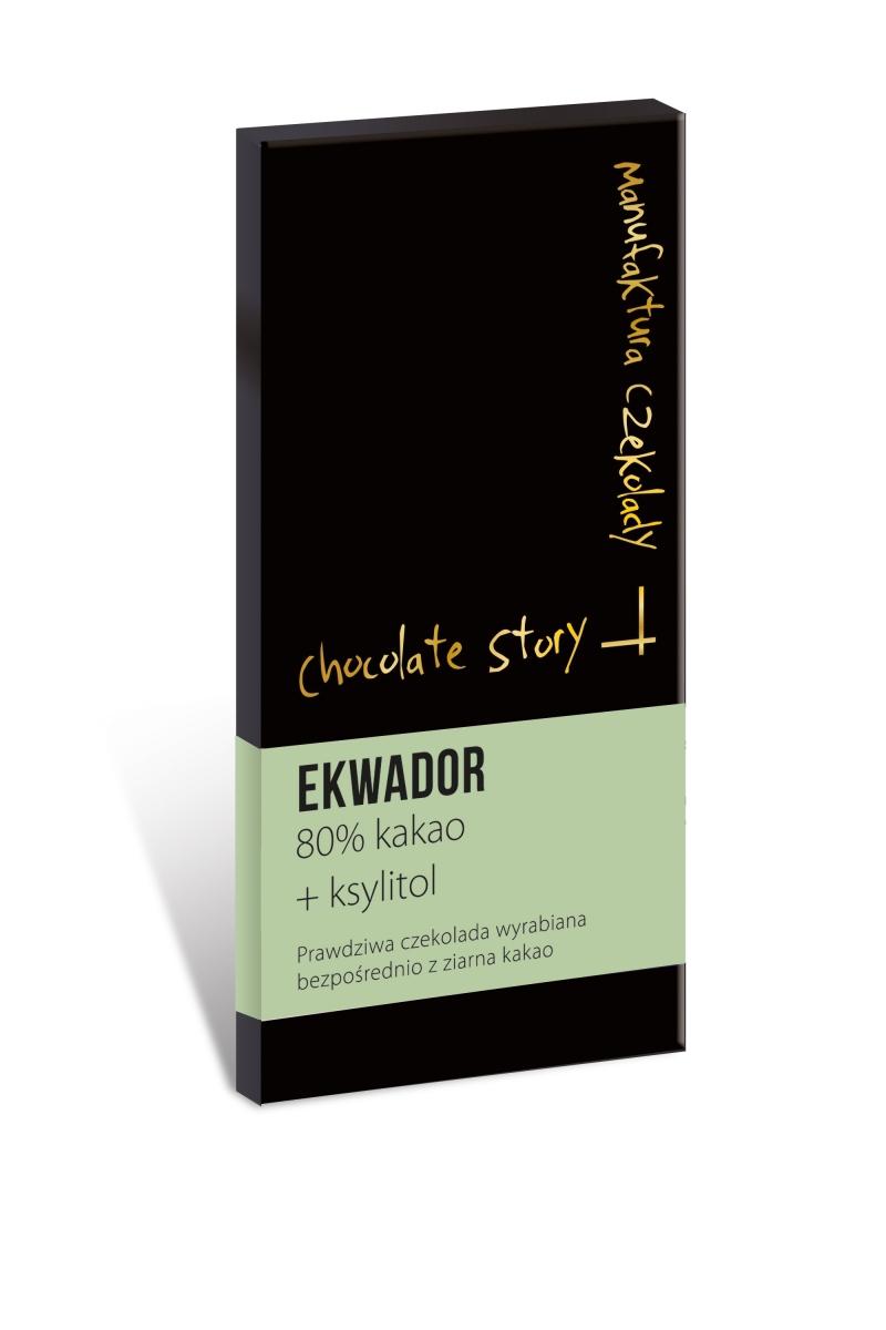 Czekolada deserowa bez cukru z ksylitolem [80% kakao Ekwador] 50g