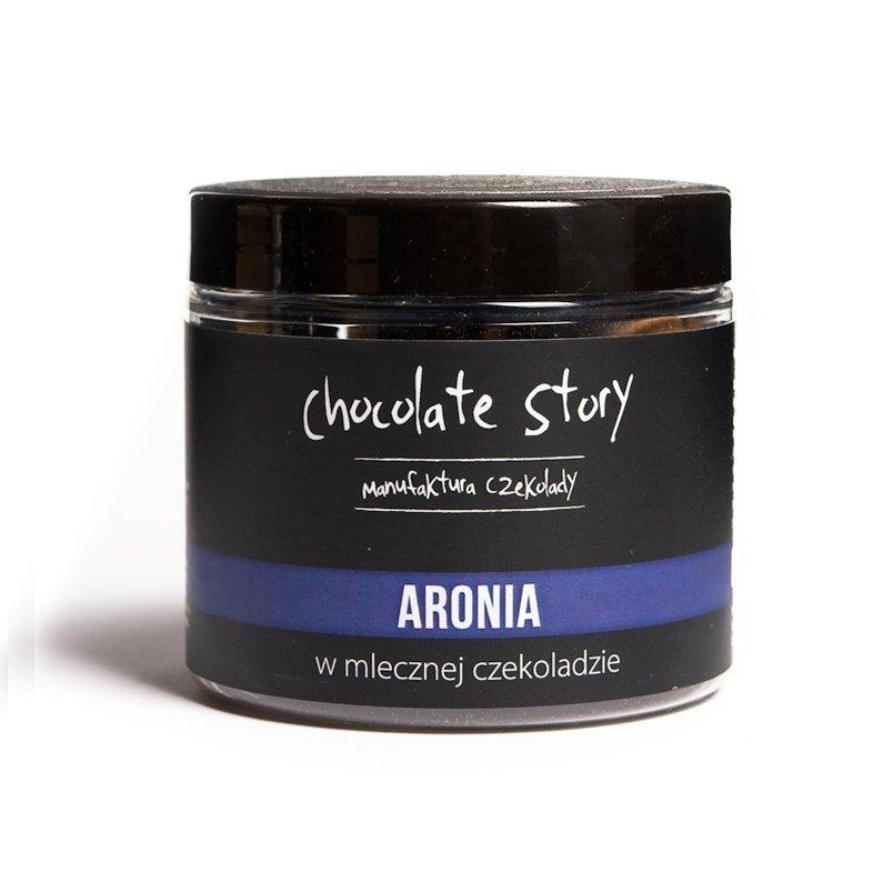 Aronia w mlecznej czekoladzie 44% - 120g SŁOIK