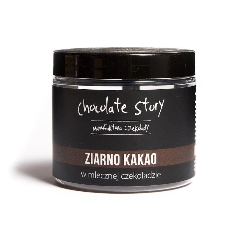 Ziarno kakao w mlecznej czekoladzie 44% 120g SŁOIK