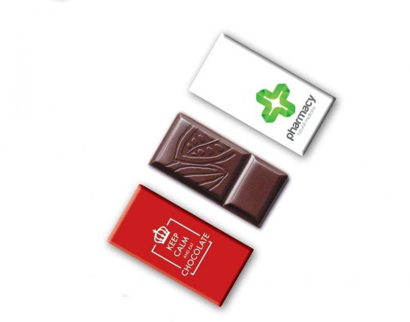 Mini-czekoladka z nadrukiem firmowym na opakowaniu MINIATURE 12g