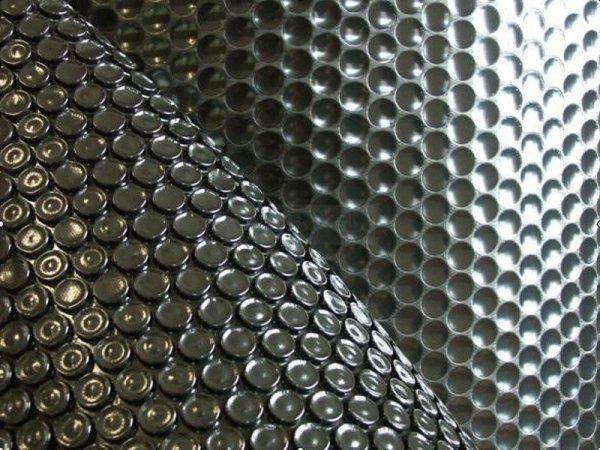 Płachta solarna 7,3 x 3,7m owalna czarna