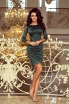 Numoco 180-3 sukienka koronkowa zielona