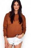 Sportowa bluza z kapturem karmelowa NU209