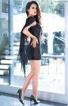 Seksowna mini sukienka z narzutką 4329-1
