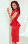 Ołówkowa sukienka z baskinką Numoco 192-11 tył