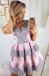 Elegancka koronkowa sukienka 2136-33