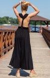 Letnia sukienka maxi czarna F1252 tył1