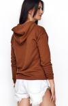 Sportowa bluza z kapturem karmelowa NU209 tył