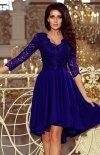 Sukienka chabrowa z dłuższym tyłem Numoco 210-4