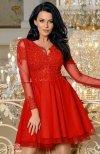 Bicotone 2160-02 sukienka rozkloszowana czerwona