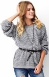Oversizowy sweter szary S74