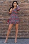 Mini sukienka z falbankami Visteriam D163-1
