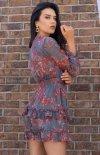 Mini sukienka z falbankami Visteriam D163 tył