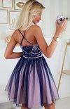 Koronkowa sukienka z tiulowym dołem 2186-11 tył