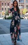 Długa sukienka w kwiaty 0219/D43