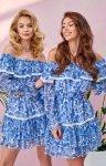 Kobieca sukienka hiszpanka w kwiaty 0328/U56