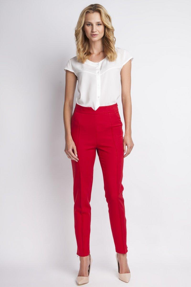 Lanti SD112 spodnie czerwone Eleganckie spodnie damskie