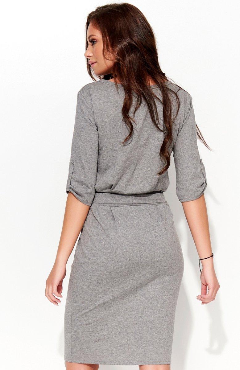 4c0e6e855c17cd Folly F29 sukienka szara - Modne sukienki Folly - Sukienki ...