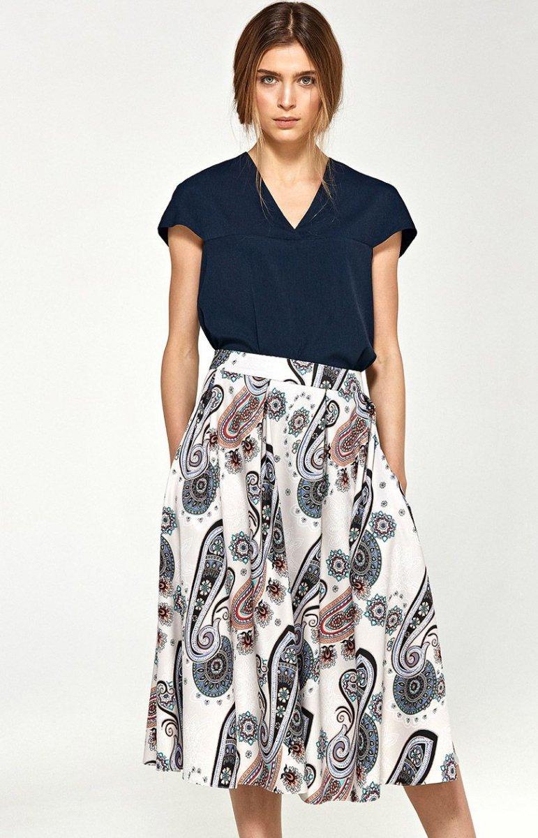9b46004726 Nife sp37 spódnica wzory - Rozkloszowane spódnice - Spódnice damskie ...