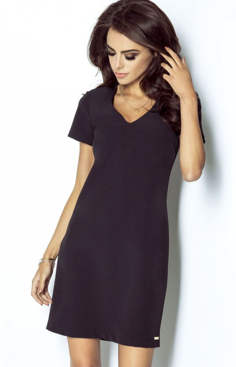 25aa253a7ec065 Ivon 203 Matilda sukienka czarna - Sukienki codzienne do pracy ...