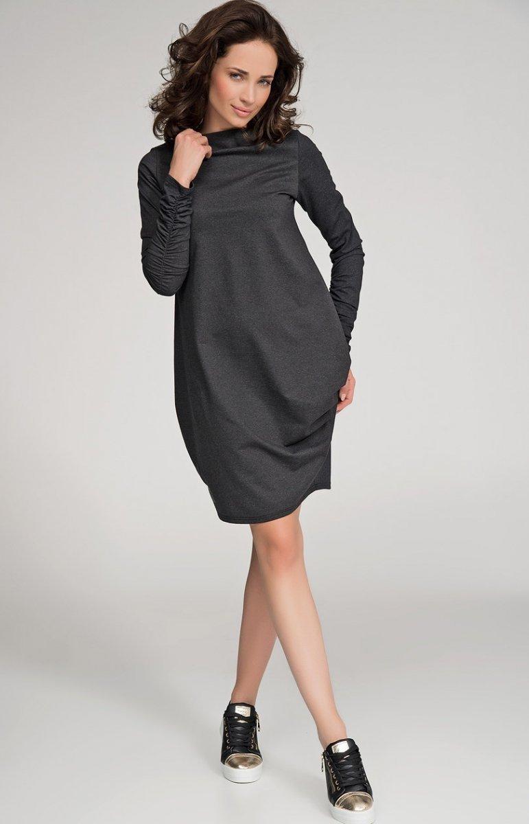 a269166cade538 Numinou NU31 sukienka grafitowa - Sukienki damskie Numinou - Modne ...