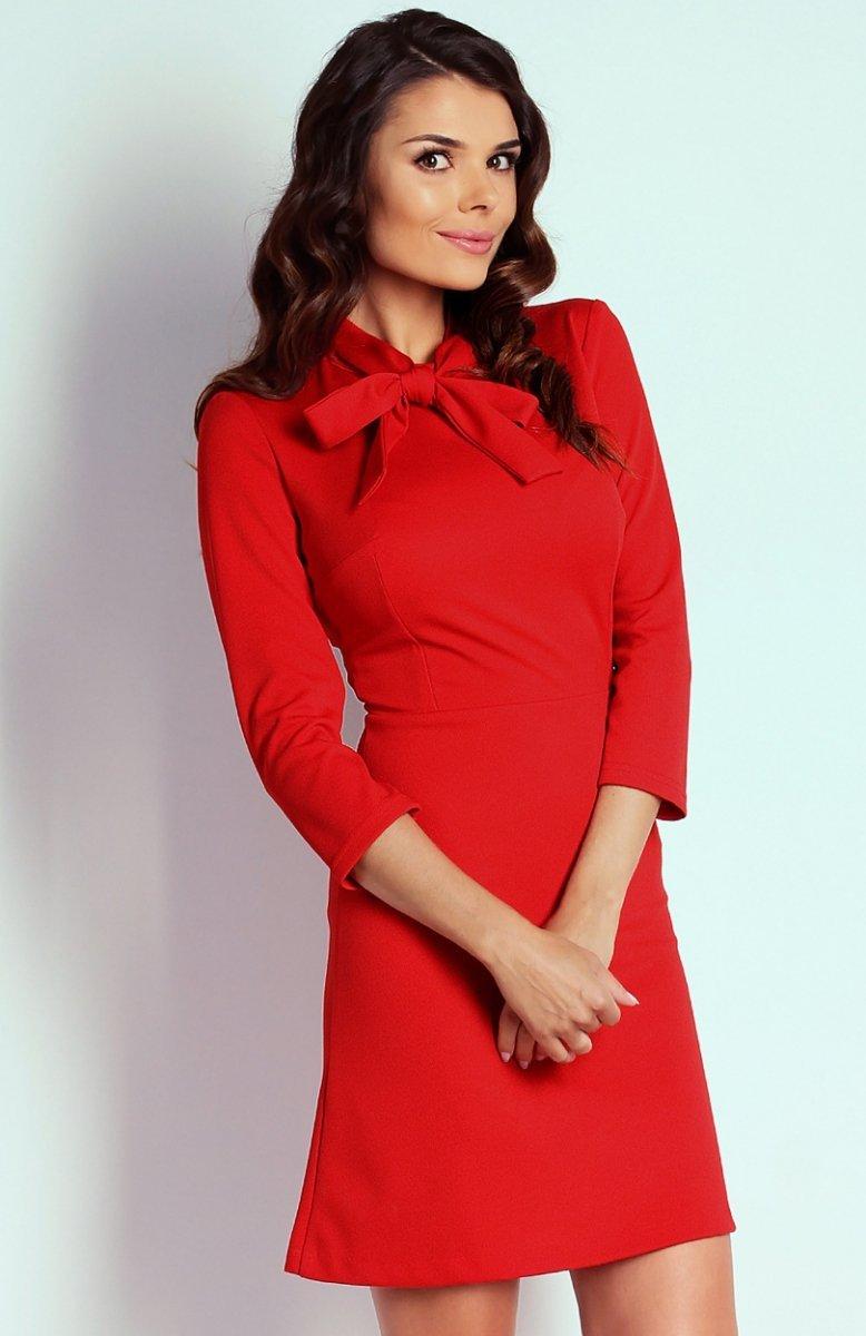 4329591ae8 Nommo NA102 sukienka czerwona - Sukienki do biura i do pracy ...