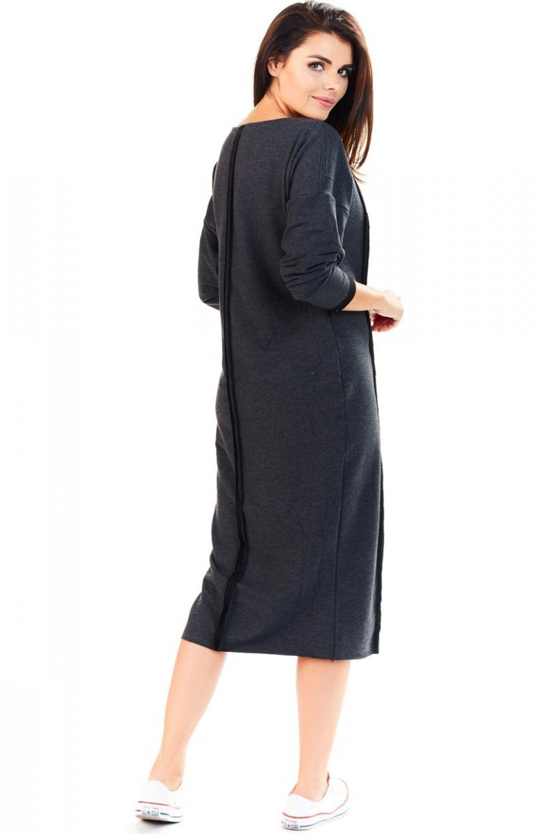 f6d785a607 Awama A197 sukienka grafitowa - Długie sukienki - Sportowe sukienki ...