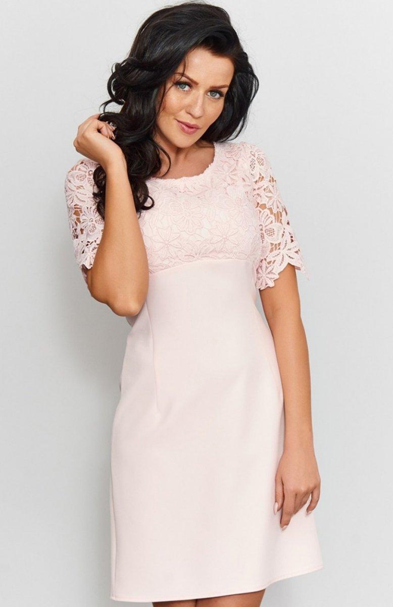 Góra Roco 0205 sukienka pudrowy róż - Sukienki koronkowe - Sukienki NE25