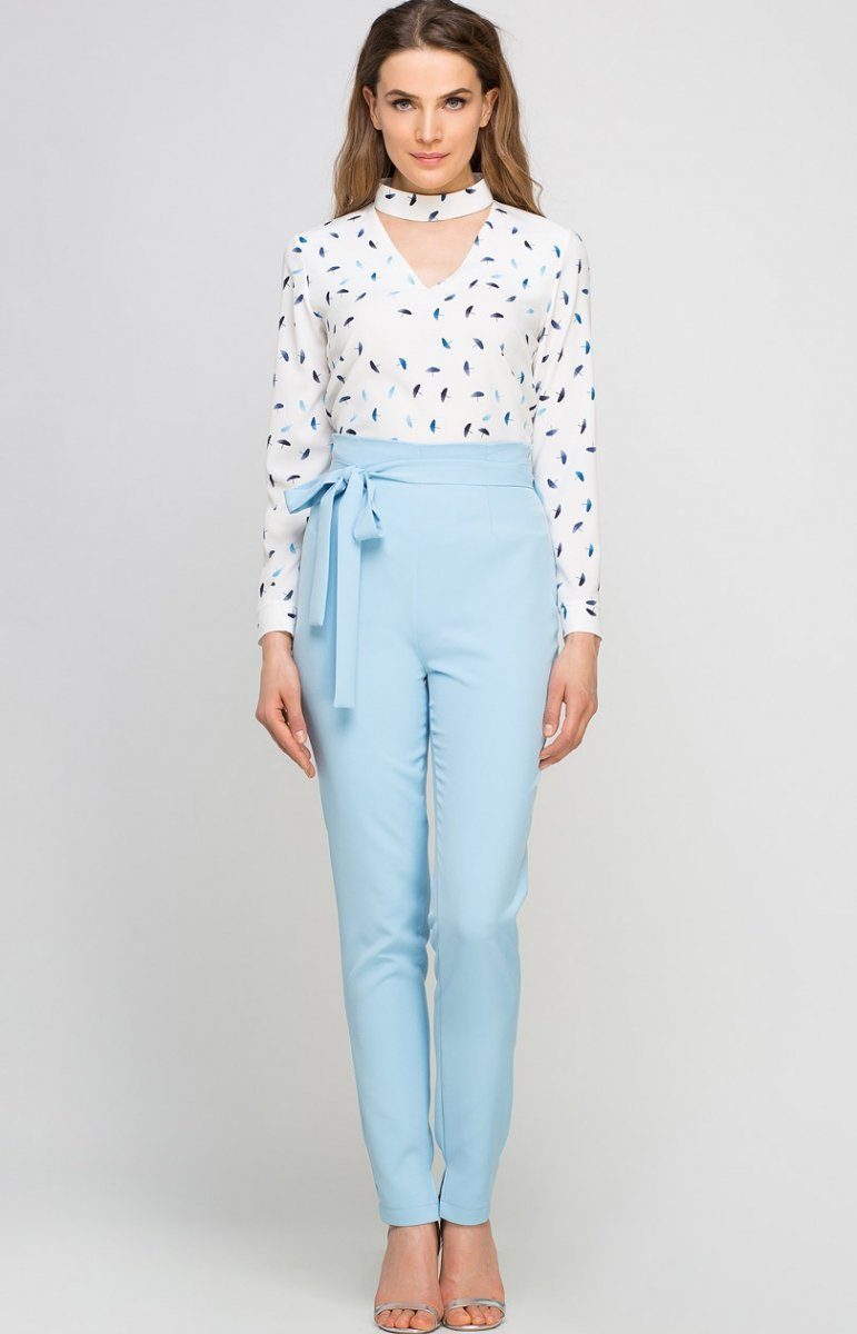 05ce7a34 Lanti SD113 spodnie błękitne - Eleganckie spodnie damskie - Modne ...