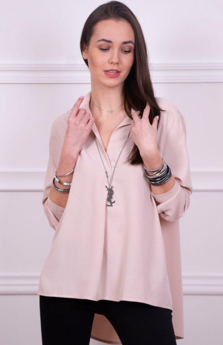 35aec4bad4 Roco 0051 koszula oversize beżowa - Koszule i Bluzki damskie ...
