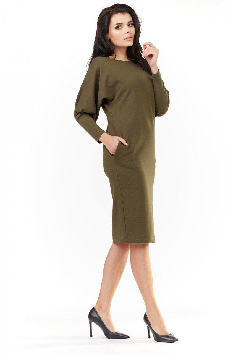 b33945beb8 Awama A206 sukienka khaki - Sukienki damskie na co dzień - Sukienki ...