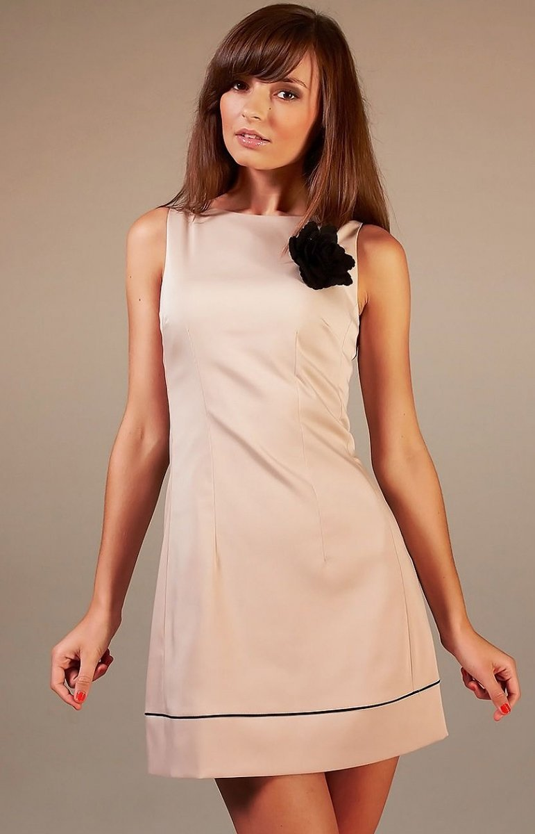 6e58ee95ec Vera Fashion Simone sukienka cappucino - Sukienki damskie Vera ...