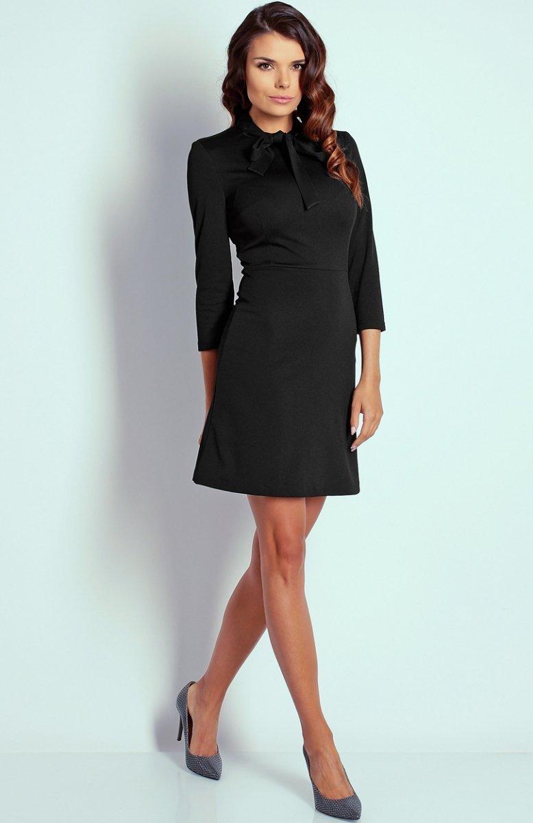 3d98729170 Nommo NA102 sukienka czarna - Sukienki do biura i do pracy ...