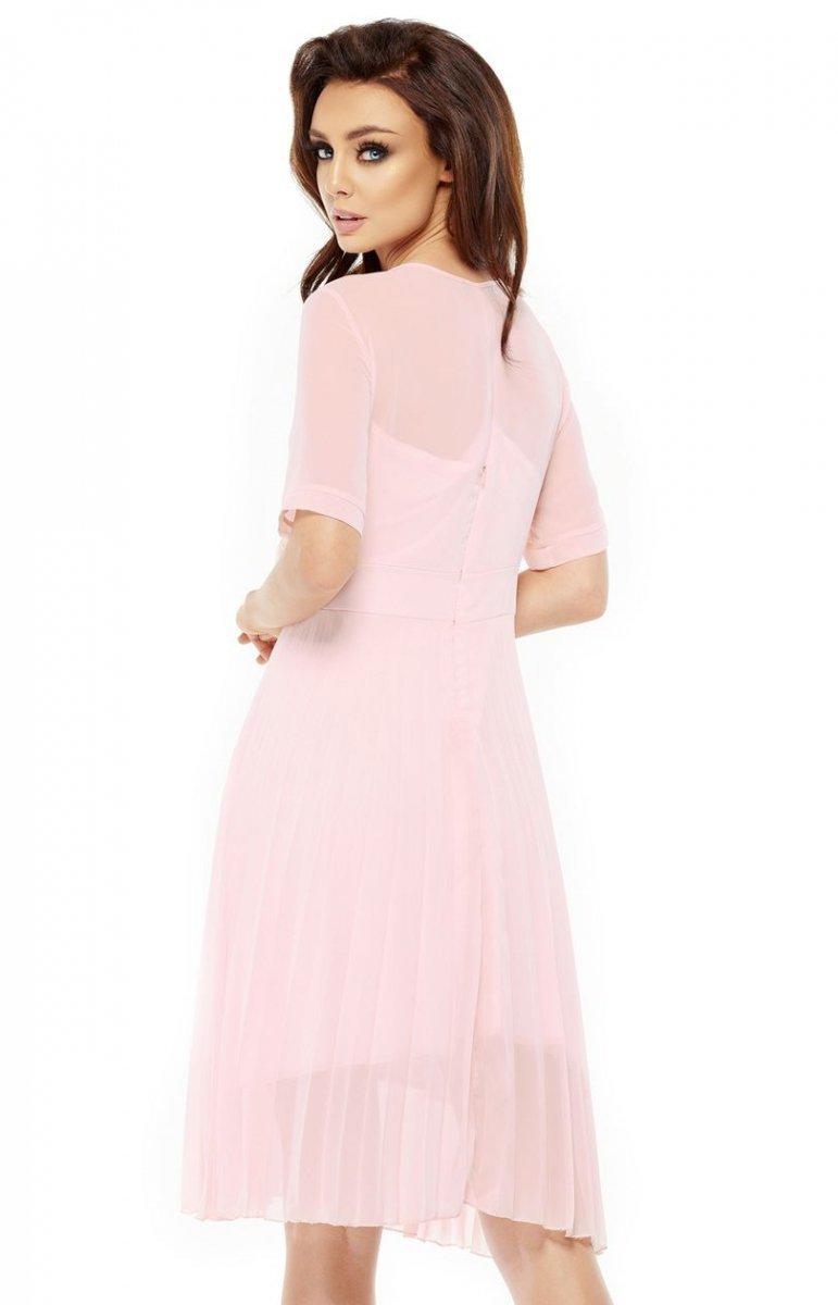 86cd1b7b06b1d7 Lemoniade L255 sukienka pudrowy róż - Sukienki na wesela i imprezy ...