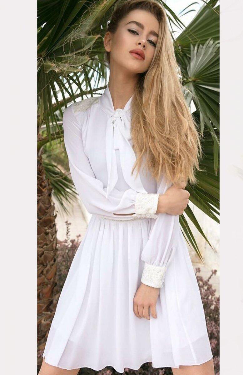 ca30460702 Lola Lena sukienka biała - Sukienki rozkloszowane - Sukienki - MODA ...