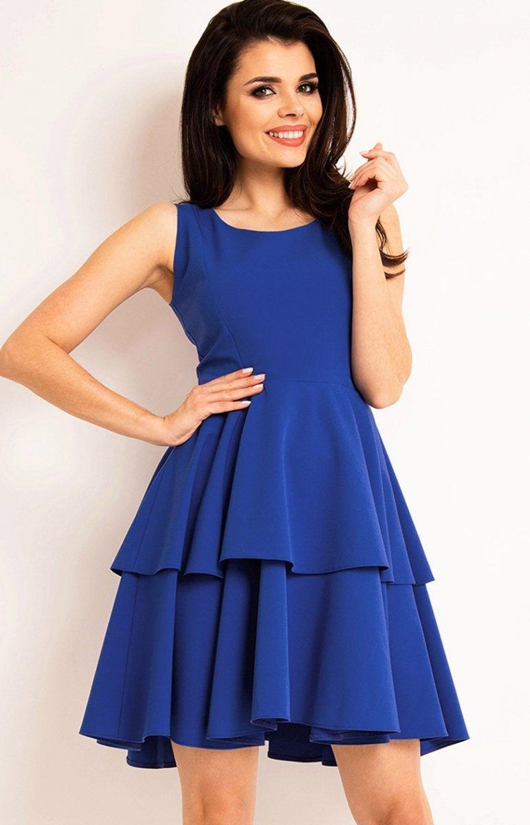 ea278454f2 Awama A163 sukienka niebieska - Sukienki damskie Awama - Sukienki ...