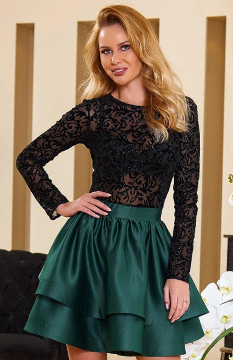 f6e6a19066 Roco 0176 sukienka czarna - Sukienki rozkloszowane i wieczorowe ...