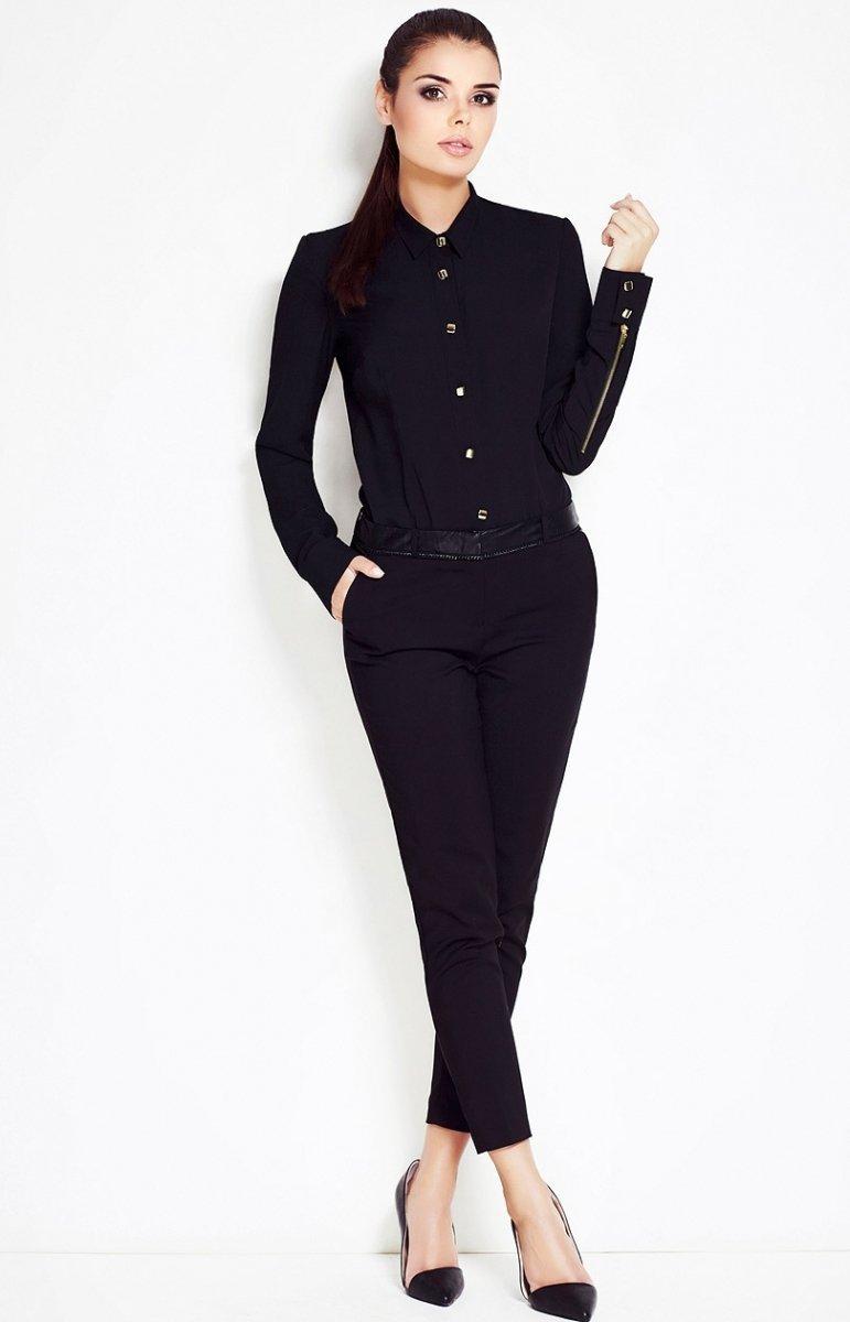 3de48bdf118cd8 Awama A52 koszula czarna - Koszule i Bluzki damskie Awama - Odzież ...
