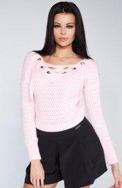 Fobya F241 sweter pudrowy róż