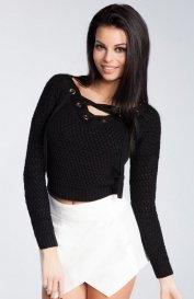 Fobya F241 sweter czarny