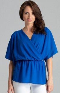 Oversizowa bluzka szafirowa L063