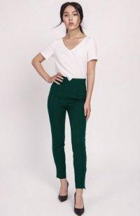Spodnie z wysokim stanem zielone SD112