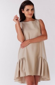Awama A176 sukienka beżowa